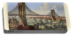 Brooklyn Bridge Portable Battery Charger by Gary Grayson