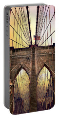 Brooklyn Bridge Sunrise Portable Battery Charger by Jessica Jenney