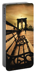 Brooklyn Bridge Sunset Portable Battery Charger by Jessica Jenney