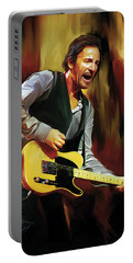 Bruce Springsteen Artwork Portable Battery Charger by Sheraz A