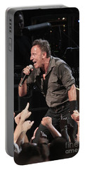 Musician Bruce Springsteen Portable Battery Charger by Concert Photos