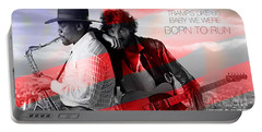 Bruce Springsteen Portable Battery Charger by Marvin Blaine