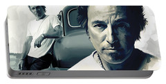 Bruce Springsteen The Boss Artwork 1 Portable Battery Charger by Sheraz A