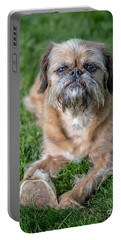 Brussels Griffon Portable Battery Charger by Edward Fielding