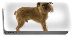 Brussels Griffon Portable Battery Charger by Jean-Michel Labat
