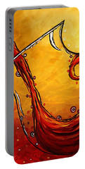 Bubbling Joy Original Madart Painting Portable Battery Charger by Megan Duncanson