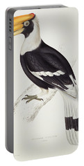Great Hornbill Portable Battery Charger by John Gould