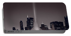 Buckingham Fountain Nightlight Chicago Bw Portable Battery Charger by Steve Gadomski