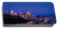 Buildings In A City, Elliott Bay Portable Battery Charger by Panoramic Images