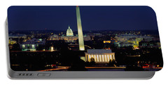 Buildings Lit Up At Night, Washington Portable Battery Charger by Panoramic Images