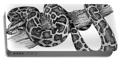 Burmese Python Portable Battery Charger by Roger Hall