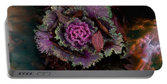 Cabbage With Butterfly Nebula Portable Battery Charger by Panoramic Images