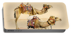 Camels From Petra Portable Battery Charger by Alison Cooper