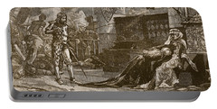 Capture Of Bruces Wife And Daughter Portable Battery Charger by Charles Ricketts