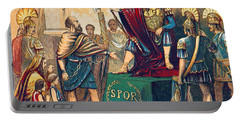 Portable Battery Charger featuring the photograph Caractacus Before Emperor Claudius, 1st by British Library