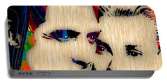 Cary Grant And Grace Kelly Collection Portable Battery Charger by Marvin Blaine