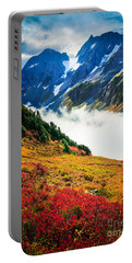 Cascade Pass Peaks Portable Battery Charger by Inge Johnsson