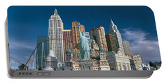 Casino Las Vegas Nv Portable Battery Charger by Panoramic Images