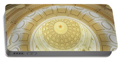 Ceiling Of The Dome Of The Texas State Portable Battery Charger by Panoramic Images