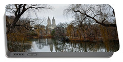 Central Park And San Remo Building In The Background Portable Battery Charger by RicardMN Photography