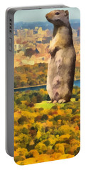 Central Park Squirrel Portable Battery Charger by Dan Sproul