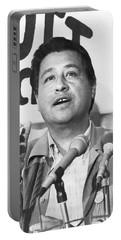 Cesar Chavez Announces Boycott Portable Battery Charger by Underwood Archives