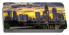 Charlotte Dusk Portable Battery Charger by Chris Austin