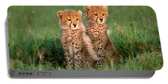 Cheetah Cubs Portable Battery Charger by Art Wolfe