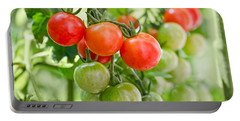 Cherry Tomatoes Portable Battery Charger by Delphimages Photo Creations
