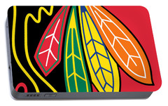 Chicago Blackhawks Portable Battery Charger by Tony Rubino