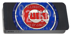 Chicago Cubs Baseball Team Retro Vintage Logo License Plate Art Portable Battery Charger by Design Turnpike