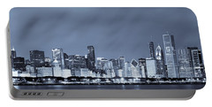 Chicago In Blue Portable Battery Charger by Sebastian Musial
