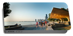 Chicago Lakefront Panorama Portable Battery Charger by Steve Gadomski