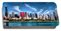 Chicago Skyline Panorama Portable Battery Charger by Christopher Arndt