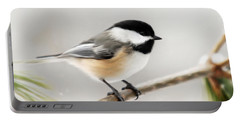 Chickadee Portable Battery Charger by Christina Rollo