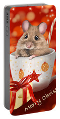 Christmas Cup Portable Battery Charger by Veronica Minozzi
