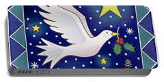 Christmas Dove  Portable Battery Charger by Cathy Baxter