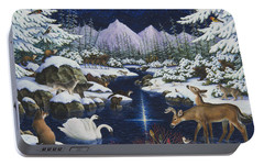 Christmas Wonder Portable Battery Charger by Lynn Bywaters