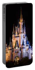 Cinderella's Castle In Magic Kingdom Portable Battery Charger by Adam Romanowicz