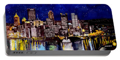City Of Pittsburgh At The Point Portable Battery Charger by Christopher Shellhammer