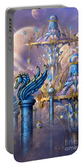 City Of Swords Portable Battery Charger by Ciro Marchetti