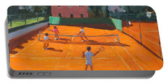 Clay Court Tennis Portable Battery Charger by Andrew Macara
