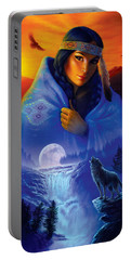 Cloak Of Visions Portrait Portable Battery Charger by Andrew Farley
