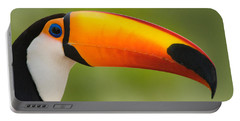 Close-up Of A Toco Toucan Ramphastos Portable Battery Charger by Panoramic Images