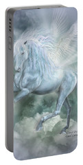 Cloud Dancer Portable Battery Charger by Carol Cavalaris