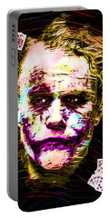 Clown With Zero Empathy Portable Battery Charger by Daniel Janda