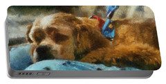 Cocker Spaniel Photo Art 07 Portable Battery Charger by Thomas Woolworth