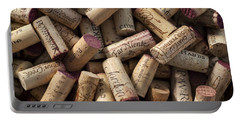 Collection Of Fine Wine Corks Portable Battery Charger by Adam Romanowicz