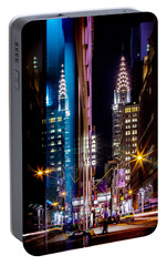 Color Of Manhattan Portable Battery Charger by Az Jackson
