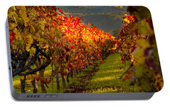 Color On The Vine Portable Battery Charger by Bill Gallagher